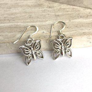Silver Butterfly small Charm Earrings